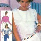 Retro Top Sewing Pattern 10 Asymmetrical Collar Large 80s Disco Sleeveless Long Sleeve 7386