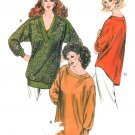 Long Tunic Top Sewing Pattern XS-XL Pullover Oversize Easy Below Hip Long Sleeve 1569