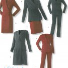 Easy Wardrobe Sewing Pattern 14-20 Wrap Front Jacket Dress Skirt Pants Suit Career 4298