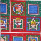 Fabric Storybook Fabric Panel Land of Christmas Hugs Sugar Plum Pop Up Hearts Gingerbread Angels