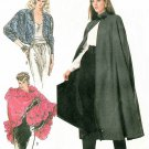 Line Cape Sewing Pattern 10-20 Ruffled Shawl Bolero Over Jacket Capelet Easy 8389