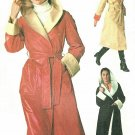 70s Coat Sewing Pattern Misses 8 10  Hood Easy Reversible Rain Jacket Wrap Front Knee Ankle 7700