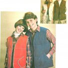 Misses Quilted Vest Sewing Pattern 10 12 Easy Lined Ski Outdoor 70s Open Front 8644