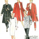 Oversize Coat Sewing Pattern 8-12 Dress Tunic Pants Flared Jacket Below Knee Easy 4634
