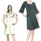 Vogue Easy Tunic Dress Sewing Pattern 14-20 Plus Square Neck A-line Knee Short Sleeve 8442