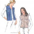 Misses Vest Sewing Pattern XS-XL Plus Easy Button Front Collar Drawstring 3227