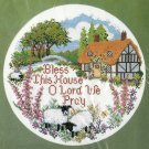 Bless This House O Lord We Pray Counted Cross Stitch Kit Vtg 10 Inch Aida Religious Faith Christian