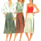 Pleated Skirt Sewing Pattern Kilt Sz 8 Vtg Wrap Below Knee Length A-line 6790