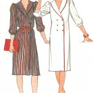 Double Breasted Dress Sewing Pattern 8-16 Easy Button Front Shirtdress Wide Shawl Collar 4736