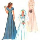 Vintage Wedding Dress Gown Sewing Pattern 12 Raised Waist Victorian Rockabilly Bridesmaid 3770