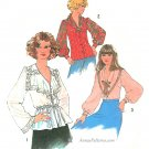 1970s Blouse Sewing Pattern Sz 10 Dressy Top Full Long Sleeves Bell Wide Collar Lace Scarf 7766