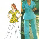 Mod Pantsuit Sewing Pattern Vintage 12 Peplum Top Bell Bottom Pants 5630