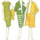 Vintage Dress Jacket Sewing Pattern Sz 12 Jackie O 1960s Fashion Slim Fit Skirt Blouse 7924