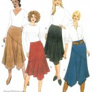 Asymmetrical Skirt Sewing Pattern 12-18 Bias Below Knee Flared Trendy Mod 4153
