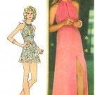 Halter Dress Sewing Pattern 70s Sz 10 Easy Maxi Mini Boho Hippie Mod Sexy 5372