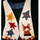 Stars Angel Vest Sewing Pattern Applique YoYo Country Prim Heavenly Stitcher