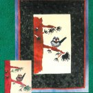 Mackenzie's Snowbird Wall Quilt Pattern Bird Branch Snow Winter 20 x 26 Nature Pieced Applique