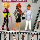 Barbie Winter Wardrobe Crochet Patterns Sweater Jacket Nightgown Slipper Stole Ski Boots