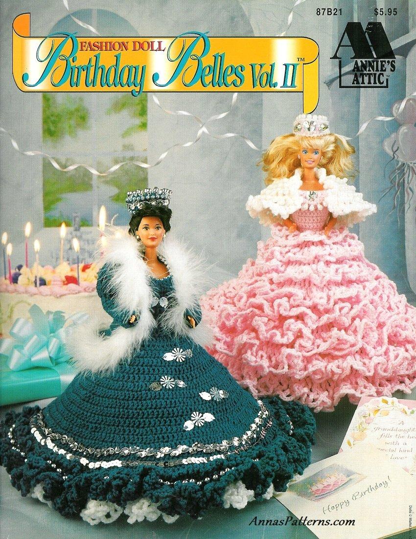 Crochet Dress Gown Patterns Barbie Fashion Doll Birthday Belle 2