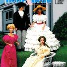 Southern Belle Beau Crochet Pattern Gown Dress Wedding Barbie Fashion Doll Scarlet Gone With Wind