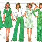 70s Wardrobe Sewing Pattern Sz 12-16 Jacket Wide Leg Pants Vest Top Skirt Hipster 4946