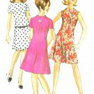 Shift Dress Sewing Pattern Sz 16 Vintage Twiggy 60s Collarless Flared Fitted Bodice 7161