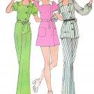 70s Hippie Mod Pants Mini Dress Pattern Sz 14 Double Breasted Bell Bottom Top Short Long Sleeve 3539