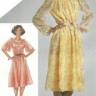 80s Disco Dress Sewing Pattern Sz 14 Bell Sleeve Retro Mod Below Knee Long Short Sleeve 9866