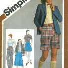 Preppy Skirt Jacket Bermuda Shorts Sewing Pattern Sz 12 School Girl Prim Lauren 9837