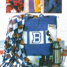 Stadium Blanket Sewing Pattern Tote Scarf Headband Sports Outdoors Knits Fleece 6243