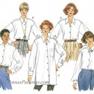 Oversize Loose Shirt Sewing Pattern Misses Plus 18-22 Button Front Long Sleeve 3700