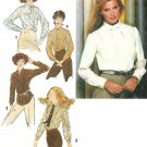 Long Sleeve Shirt Sewing Pattern 16 Plus 1970s Blouse Button Front 9138