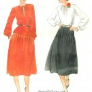Disco Top Skirt Sewing Pattern Vintage Sz 10 Gathered Shirt Long Sleeve Flared 5652