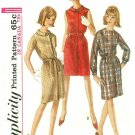 Shift Dress Sewing Pattern Sz 20 Jackie O 60s Short Long Sleeve Button Round Collar 6117