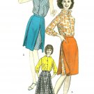 Vintage Vogue Sewing Pattern Blouse Skirt Pirt Sz 16 Overskirt Skort Long Sleeveless Uncut 6160