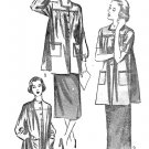 Advance Sewing Pattern 1940s Smock Top XL 22/24 Long Short Sleeve Maternity Oversize Button 4137