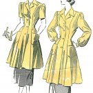 Advance Sewing Pattern 18/20 Plus 1949 Smock Dress Short Long Sleeve Button Front 4999