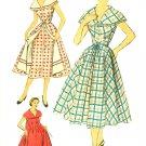 Advance Sewing Pattern Wrap Dress Housecoat Sz 14 16 Overskirt 1950s Sleeveless Bertha Collar 6144