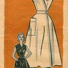 Anne Adams Wrap Dress Sewing Pattern Sz 18 Plus Vintage 1950s Sleeveless Smock Top 4743