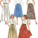 Easy Circle Skirt Sewing Pattern 12-16 Full Gathered Long Short 4 Lengths Vintage Hippie Boho 8089