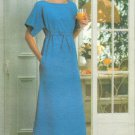 Caftan Lounge Gown Sewing Pattern 18 20 Maxi Dress Kimono Sleeve Vintage 5166