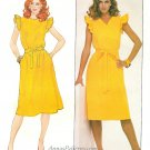 Wrap Dress Sewing Pattern Sz 20 Vintage Reversible Sleeveless Disco Easy 4387