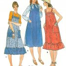 Jumper Dress Sewing Pattern Sz 12 Vintage Sundress Ruffle Straps Easy 5869