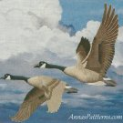 Homeward Bound Crewel Embroidery Kit Simplicity Geese Ducks Flight 14 x 11
