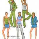 Activewear Sewing Pattern Knit 16-22 Easy Pullon Pants Jacket Shorts Top