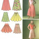 Circular Skirt Sewing Pattern 8-16 Full Flat Pleat Ankle Knee Length 4188