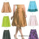 Fashion Skirts Sewing Pattern 14-20 Plus Bubble Pleated Knee Length 4924