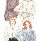 Bodysuit Blouse Sewing Pattern Sz 8 Button Front Shirt Shawl Long Sleeve 6732