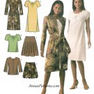 Pullover Dress Skirt Top Jacket Sewing Pattern 14-22 Plus Easy Bubble Short Sleeve 4045
