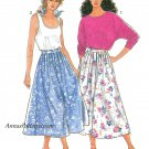 Full Pleated Skirt Sewing Pattern 8-20 Above Ankle Tank Top Kimono Sleeve Easy 7150